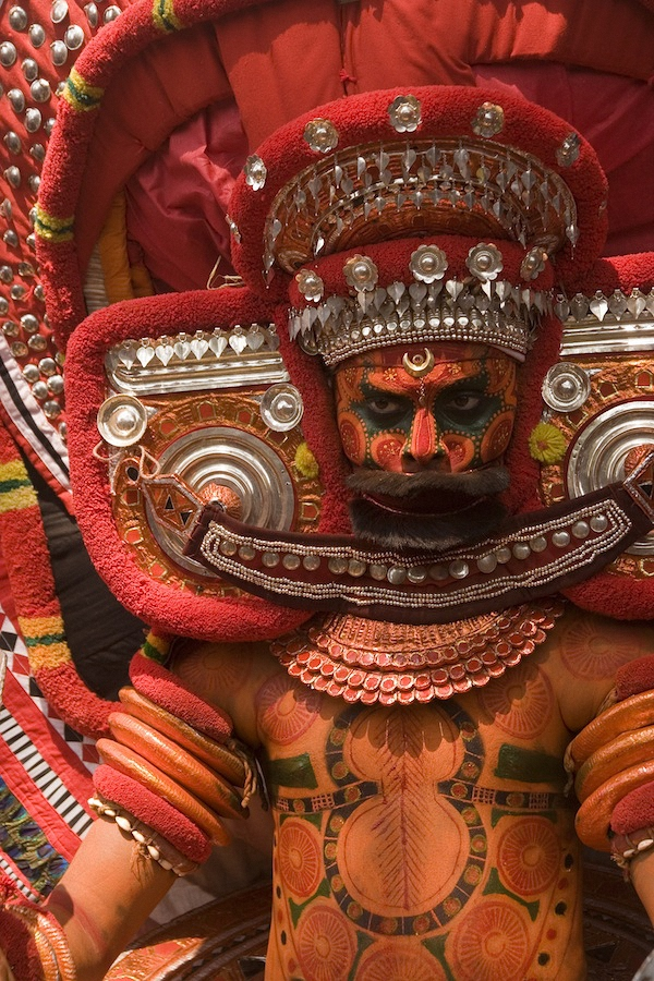 Theyyam at a Rama temple, in Kannur District.